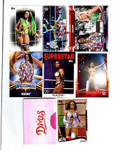 Naomi Wrestling Lot of 8 Different Trading Cards 4 Inserts WWE TNA N-E1