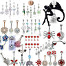 Surgical Steel Navel Rings Crystal Belly Button Ring Bar Body Piercing Jewelry