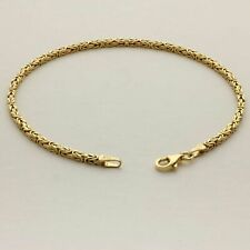 585 Gold Armband 2x2mm Königsarmband Massiv Echt Hochglanz Gestempelt 14 Karat
