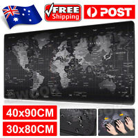 Extra Large Size Gaming Mouse Pad Desk Mat Anti-slip Rubber Speed Mousepad Black