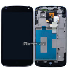 Black LG Google Nexus 4 E960 Touch Screen Digitizer LCD Display Assembly+Frame
