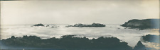 USA, Monterey (California), The beach side  Vintage silver print. Panoramic View