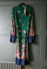 BODEN Bonnie Silk Midi Dress Chatsworth Green Wonderland UK 16
