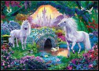 Unicorns in Fairy Land - Chart Counted Cross Stitch Pattern Needlework Xstitch