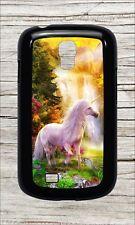 UNICORN MAGIC FLOWERED HIDDEN WORLD CASE COVER FOR SAMSUNG GALAXY S4 -rfv8Z