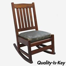 G. Stickley Mission Oak Youth Nursing Rocking Chair Rocker Slat