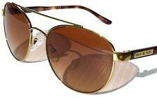 NEW* MICHAEL KORS SAL Round AVIATOR GOLD Tortoise w BRONZE Lens MK5019 Sunglass