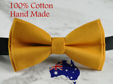 Men Women 100% Cotton BUTTERSCOTCH YELLOW Craft Bow Tie Bowtie Wedding Party