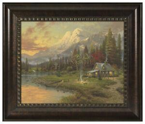 Thomas Kinkade Evening Majesty 16 x 20 Brushstroke Vignette (Choice of Frame)