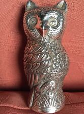 Rare Vintage Cambodian Solid Silver Owl Betel Box.1930