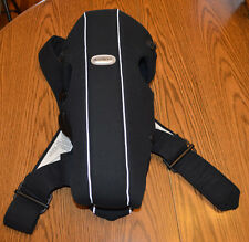 Baby Bjorn Baby Carrier For Babies 8lbs to 25lbs Black With Silver Carrier EUC