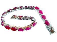18.65ct Ruby & Diamond Bracelet in 14K White Gold