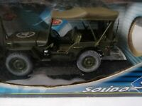 Solido US Military Army Willy Jeep 1:18 Vintage Die Cast detailed model