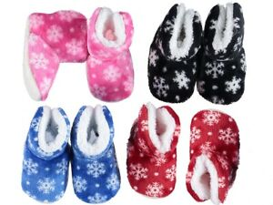 Baby Toddler Girl's Boy fur lined Winter Warm Booties Shoes 6 - 12 M blue, red