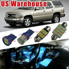 12-pc Aqua Ice Blue LED Lights Interior Package inside Kit For 00-06 Chevy Tahoe