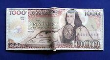 1000 old Mexican pesos wallet leather bifold blue Sor Juana Ines billete bill