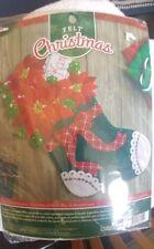 Christmas Poinsettia Felt Stocking Kit, 18 In.
