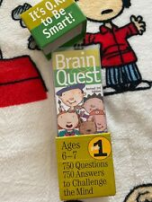Brain Quest Grade 1 Ages 6-7 Revised 3rd Edition Deck 1&2