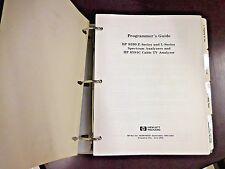 HP 8590 E & L Series Spectrum Analyzers + 8591C Programmer's Guide (08590-90235)