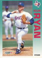 Nolan Ryan 1992 Fleer #320 Texas Rangers Baseball Card