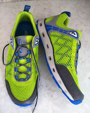 Eddie Bauer Motion Sneakers~Neon Green Mesh~Blue/Gray Trim~Mens 9.5~NEW