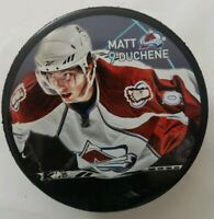 MATT DUCHENE #9 COLORADO AVALANCHE SHER-WOOD OFFICIAL HOCKEY PUCK NHL NHLPA