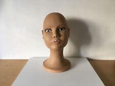 Used - MANNEQUIN HEAD  CABEZA DE MANIQUÍ - Height 31,5 cm Altura - Plastic Usado