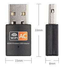 Dual Band 600Mbps 802.11ac2.4/5GHz PC WiFi USB Adapter WirelessNet LAN Dongle