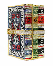 JUDITH LEIBER Multi-Color Crystal STACK OF BOOKS Minaudiere Evening Bag