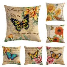 Retro Style Linen Cotton Cushion Cover Waist Throw Pillow Case Home Sof