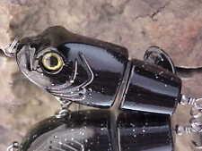 """Matzuo 2.5"""" Tatsumaki Frog TopWater Tornado Tail Plopper MTZ-TS-BKGT - Bass/Pike"""