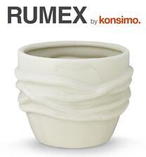 KONSIMO - RUMEX Blumentopf Übertopf Blumenkübel Pflanztopf Keramik cremig TOP!!!