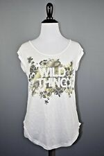 """Jessica Simpson Active White Graphic """"Wild Thing"""" Sleeveless Workout Top XS"""