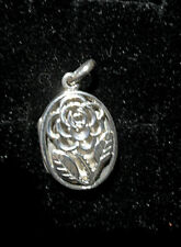 24mm 925 Sterling Silver oval locket pendant,  4.4grms
