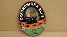 Oxfordshire Ales Marshmellow Ale Pump Clip face Bar Collectible 53