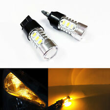 A1 2x T20 7443 LED Bulbs High Power 5730 SMD Turn Signal Brake Tail Light, Amber
