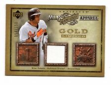 Brian ROBERTS 2006 artefatti MLB GAME-USATO Apparel Oro Ltd (Orioles, Yankees)