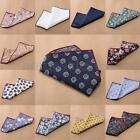 NEW Men Floral Cotton Pocket Square Handkerchief Wedding Party Multicolor Hanky