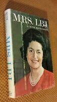 MRS. LBJ by Ruth Montgomery Lady Bird Johnson (1964, HC) First Edition Vintage