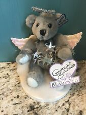 Annette Funicello Bear Co. Angel of Clouds 6� Bear Signsture Pin Gray