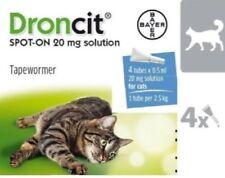 DRONCIT Vermifuge Spot-On 20mg pour Chats Moyens 2.5 - 5Kg - Boite de 4 Pipettes