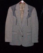 Circle S Mens Western Two Tone Gray Tweed Sport Coat Jacket 40 R Rockabilly USA