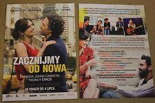 Begin Again (2013) Keira Knightley, Mark Ruffalo - Polish promo FLYER