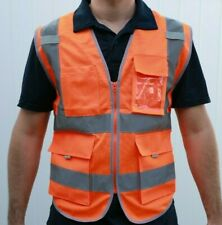 Security Safety Vest With High Visibility Reflective Stripes Orange Amp Lime