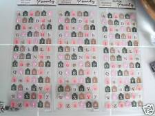 234 sticker Alphabet LETTERS SCRABBLE scrapbooking NEW
