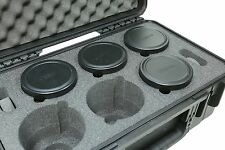 SKB 6 Lens case Black with foam Comes With a Pelican TSA Lock  # 3i-20118LENS