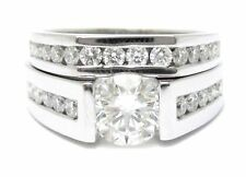 2.65CT ROUND CUT TENSION DIAMOND ENGAGEMENT RING & BAND TR30