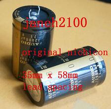 2pc Japan Nichicon 12000uF 71V Gold Audio capacitor NEW (D1)