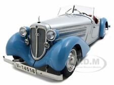 1935 AUDI 225 FRONT ROADSTER BLUE/SILVER 1/18 DIECAST MODEL CAR BY CMC 075 B