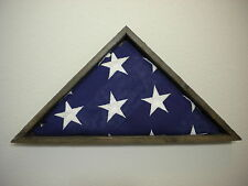 5 X 9 BARNWOOD FLAG DISPLAY CASE VETERAN MILITARY SHADOW BOX BURIAL FUNERAL USA